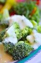 Macro shot of healthy vegetables Stock Image