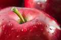 Macro Shot Of Red Apple