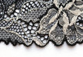 The macro shot of the white and black lace texture material Royalty Free Stock Photo