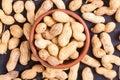 Macro shots of peanuts Royalty Free Stock Photo