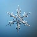 Macro snowflake ice crystals Royalty Free Stock Photo