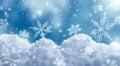 Macro of snowflake on snow Royalty Free Stock Photo