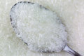 Macro texture of spoon full of MSG flakes, Monosodium glutamate, Royalty Free Stock Photo