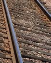Macro train tracks Royalty Free Stock Image
