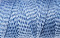 Macro view of blue thread wound Royalty Free Stock Photos