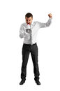 Mad businessman screaming Royalty Free Stock Photo