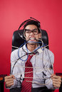Mad Customer Service Guy Royalty Free Stock Images