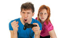 Mad gaming Stock Images