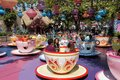 Mad Hatter Tea Cups Disneyland Royalty Free Stock Photo