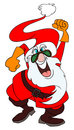 Mad Santa Claus Royalty Free Stock Images