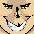 Mad smile illustration of a males face with aggressive Royalty Free Stock Image
