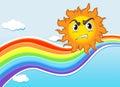 A mad sun near the rainbow
