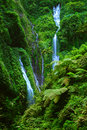 Madakaripura waterfall east java indonesia near bromo volcano Royalty Free Stock Photos