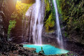 Madakaripura Waterfall is the tallest waterfall. Royalty Free Stock Photo
