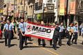 MADD demonstration in St Patrick's Day Parade Stock Photos