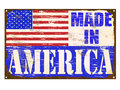 Made in america enamel sign rusty old Stock Image