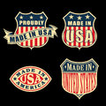 Made in america set of badges and labels Royalty Free Stock Photo