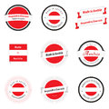 Made in Austria labels and badges Stock Images
