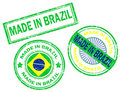 Made in Brazil stamp Stock Photo