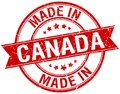 made in Canada stamp Royalty Free Stock Photo