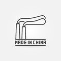 Made in China line icon