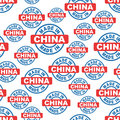 Made in China seamless pattern background icon. Flat vector illu