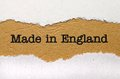 Made in england close up of Stock Image