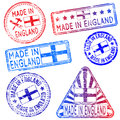 Made in england stamps rubber stamp illustrations Stock Photo