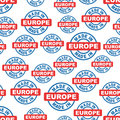 Made in Europe seamless pattern background icon.
