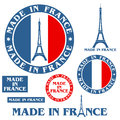 Made in france isolated objects on white background vector illustration eps Royalty Free Stock Photo