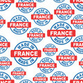 Made in France seamless pattern background icon. Flat vector ill