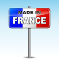 Made in france signpost vector illustration of on sky background Royalty Free Stock Photo