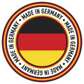 Made in Germany Circular Decal Royalty Free Stock Image