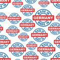 Made in Germany seamless pattern background icon. Flat vector il