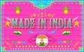 Made in india background illustration of Stock Photo