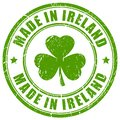 Made in Ireland vector stamp