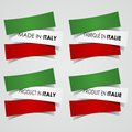 Made in italy badges creative abstract vector illustration Royalty Free Stock Photo