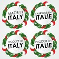 Made in italy badges creative abstract vector illustration Stock Photo