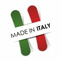 Made in italy flag illustration Royalty Free Stock Image