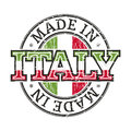 Made in italy grunge label Stock Images