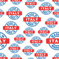Made in Italy seamless pattern background icon. Flat vector illu
