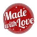 Made with love sign or stamp