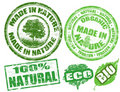Made in nature stamps Stock Photo