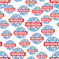 Made in Russia seamless pattern background icon.