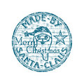Made by Santa stamp Stock Photo
