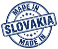 made in Slovakia blue grunge stamp