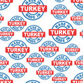 Made in Turkey seamless pattern background icon. Flat vector ill