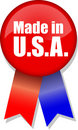 Made in U.S.A. Button Ribbon Royalty Free Stock Photos