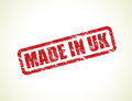 Made in uk stamp red Stock Image