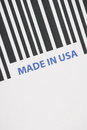 Made in usa barcode a close up of a and the words Royalty Free Stock Photography
